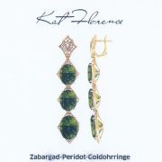 Zabargad-Peridot-Goldohrringe, Kat Florence