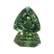 Grüner Australischer Saphir Super Triangel Schliff 2.3 ct. John Dyer