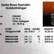 Zertifikat Edelsteinschmuck Turmalin Goldanhänger