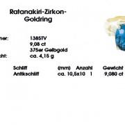 Zertifikat Ratanakiri-Zirkon-Goldring
