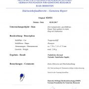 Edelsteinfundbericht Saphir-Ring