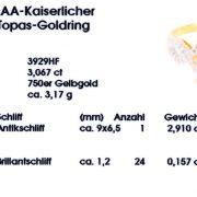 Kaiserlicher Topas 3,06ct Goldring Zert
