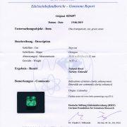 Kolumbischer Smaragd 16,97 ct. Zertifikat