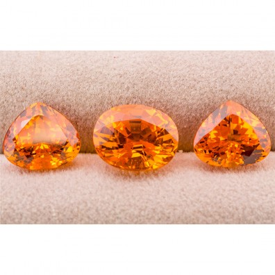 3 orange Edelsteine: Mandarin Set