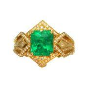 Muzo Kolumbianischer Smaragd Goldring 4,1 ct.