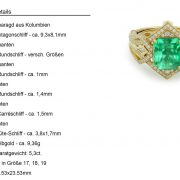 Muzo-Kolumbianischer Smaragd Goldring 4,1 ct.