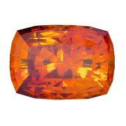 Perfekter Rot-Oranger Sphalerit Spanien Kissenschliff 15,27 ct.