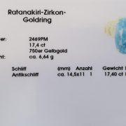 Ratanakiri Zirkon Goldring 17,4 ct