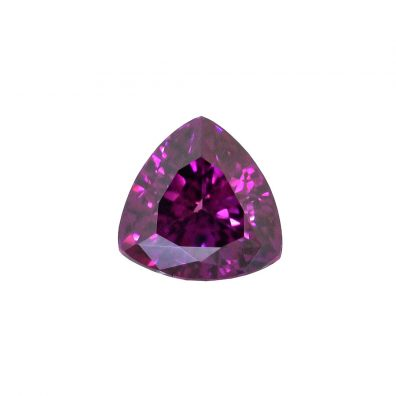 Royal Lila Granat Triangel 3,24 ct, Lila Edelstein