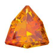 Sehr schöner Rot-Orange-Gelber Sphalerit Fancy Triangel mit 18,83 ct.