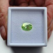 Seltenheit Fluoreszierender Opal aus Mexiko im facettierten Oval Schliff mit 2,12,ct.