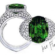 Tsavorit Ring Kat Florence 10,12 ct.
