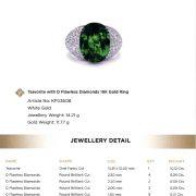 Tsavorit Ring Kat Florence 10,12 ct. Zertifikat