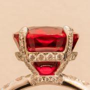 Abbildung Winza Rubin Ring Fassung